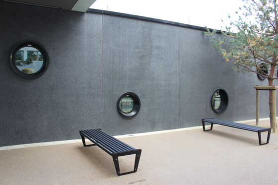 BURRI 02 Bench without backrest by BURRI | Exterior benches