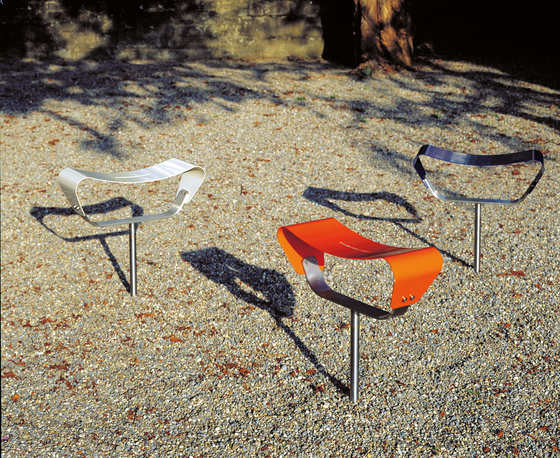 Evolution to be set in concrete by BURRI | Exterior chairs