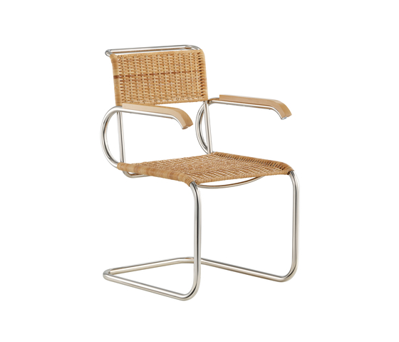 D40 Bauhaus-cantilever chair with armrests by TECTA | Visitors chairs / Side chairs