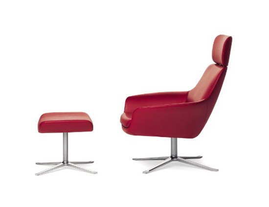 Oscar 221 armchair I footstool by Walter Knoll | Lounge chairs