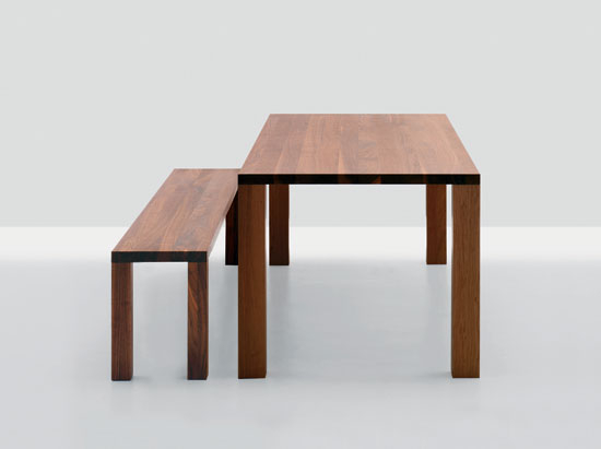 Pjur | Pjur bench by Zeitraum | Tables and benches