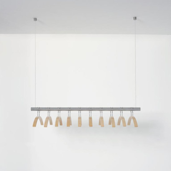 Tubulus T by van Esch | Ceiling mounted coat racks