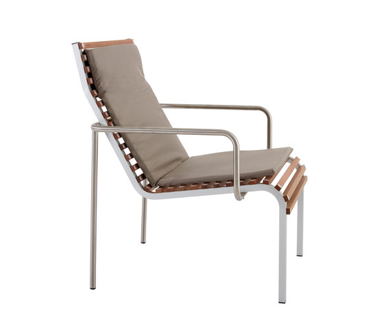 Extempore low chair/footrest von extremis | Gartensessel