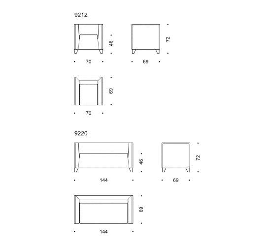 Quadra sofa de Wittmann | Canapés d'attente