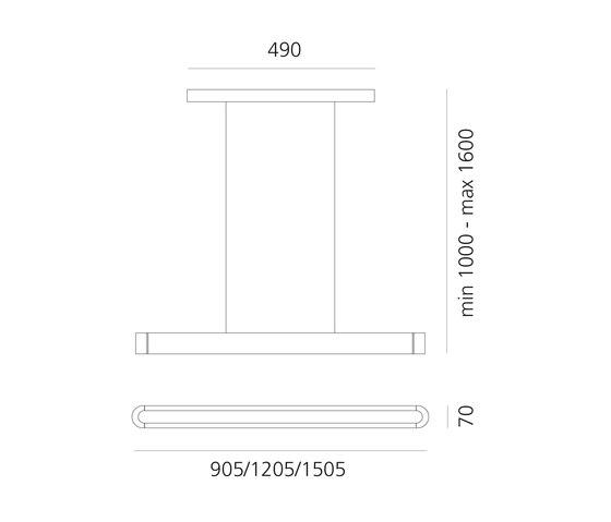 Talo 90, 120, 150 LED Suspension by Artemide | Suspended lights
