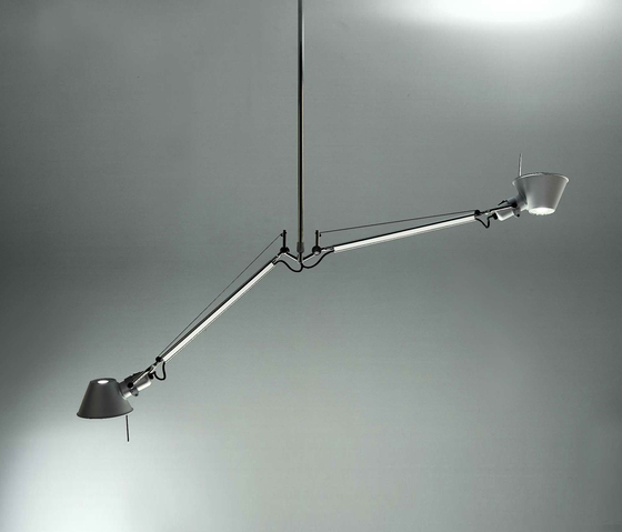 Tolomeo due bracci alluminio Suspension Lamp by Artemide | General lighting