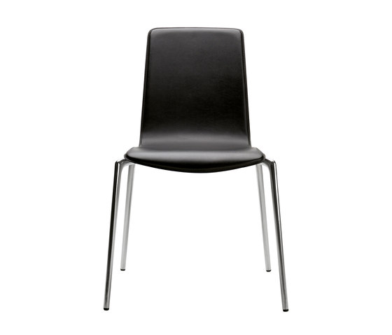 Gorka | wood leather by AKABA | Visitors chairs / Side chairs