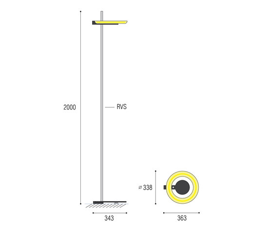 Aura 55 Floorstanding by QC lightfactory | General lighting