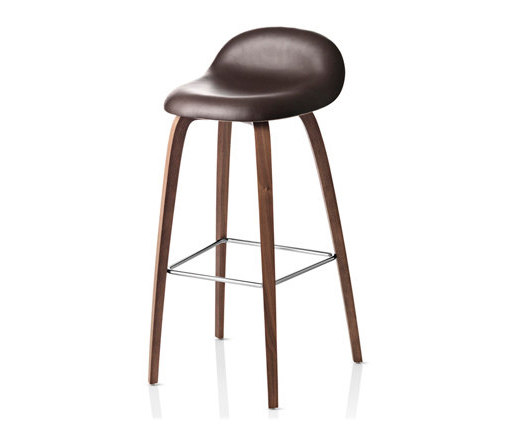 Gubi Stool – Wood Base by GUBI | Bar stools