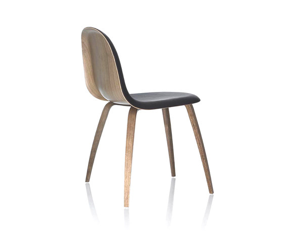 Gubi Chair – Wood Base by GUBI | Restaurant chairs