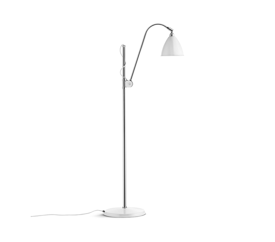 Bestlite BL3 S Floor lamp | Matt White/Chrome by GUBI | General lighting