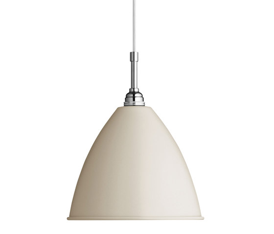 Bestlite BL9 L Pendant | Off-White/Chrome by GUBI | Suspended lights