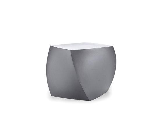 Right Twist Cube | Model 1015 | Silver Grey di Heller | Sgabelli da giardino