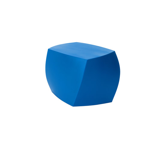 Left Twist Cube | Model 1016 | Blue by Heller | Garden stools