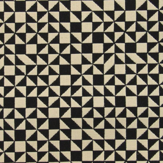 Checker Split 001 Black/White de Maharam | Tissus