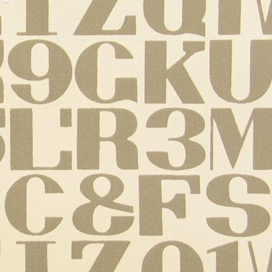 Alphabet 003 Raw Umber On White de Maharam | Tejidos murales