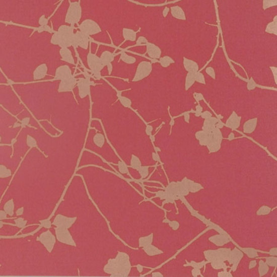 Briar geranium/gold wallpaper by Clarissa Hulse | Wall coverings / wallpapers