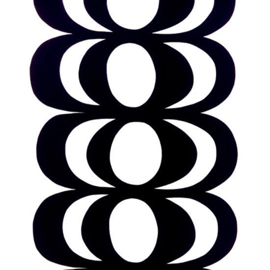 Kaivo black/white interior fabric by Marimekko | Curtain fabrics