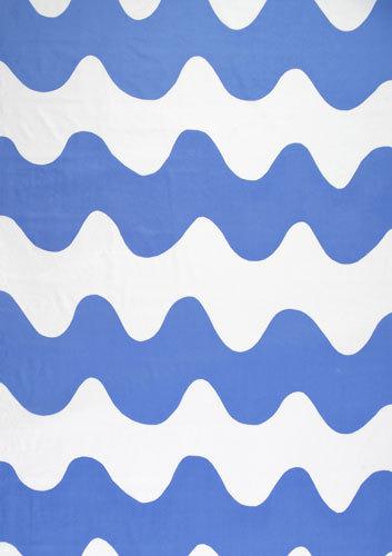 Lokki blue interior fabric by Marimekko | Curtain fabrics