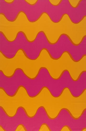 Lokki pink/orange interior fabric by Marimekko | Curtain fabrics