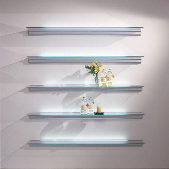 Hialina Shelving di BD Barcelona | Librerie con illuminazione integrata