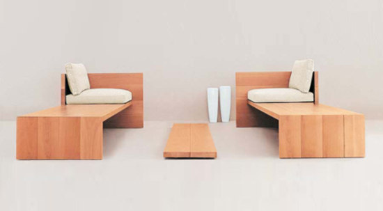 Le Foglie bench by Dema | Upholstered benches