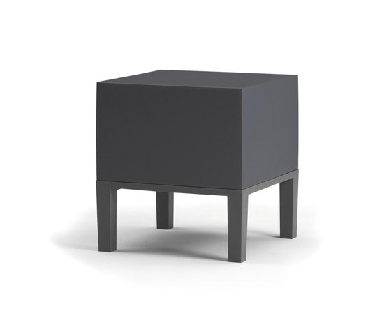 Primary Pouf 01 anthracite by Quinze & Milan | Garden stools
