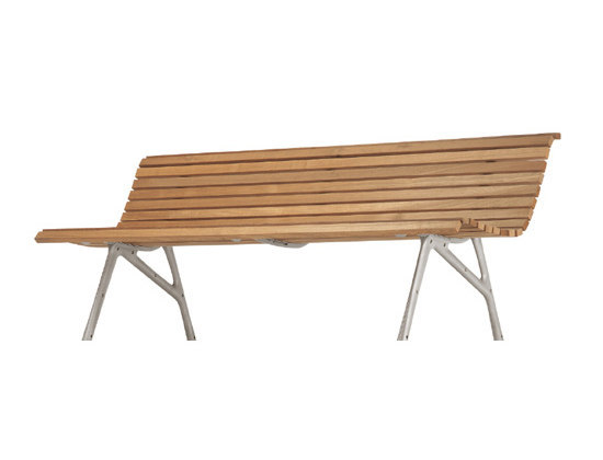 teak bench 480 by Alias | Garden benches