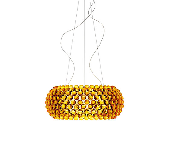 Caboche suspension big yellow-gold by Foscarini | General lighting