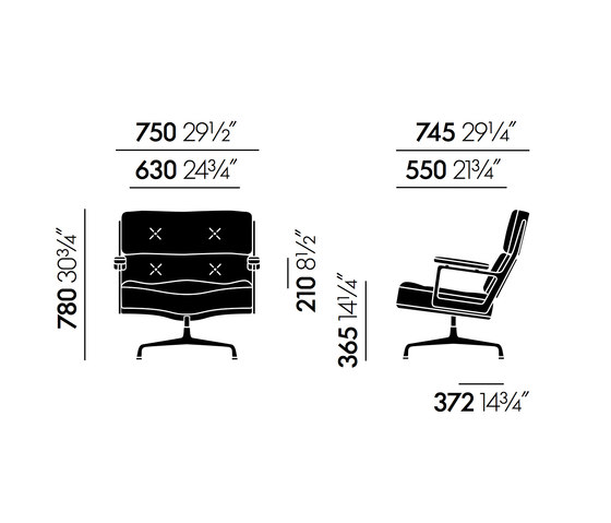 Lobby Chair ES 105 by Vitra | Conference chairs