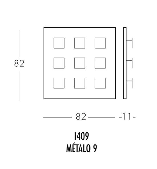 Métalo 9 I409 Wandleuchte von Dix Heures Dix | Allgemeinbeleuchtung