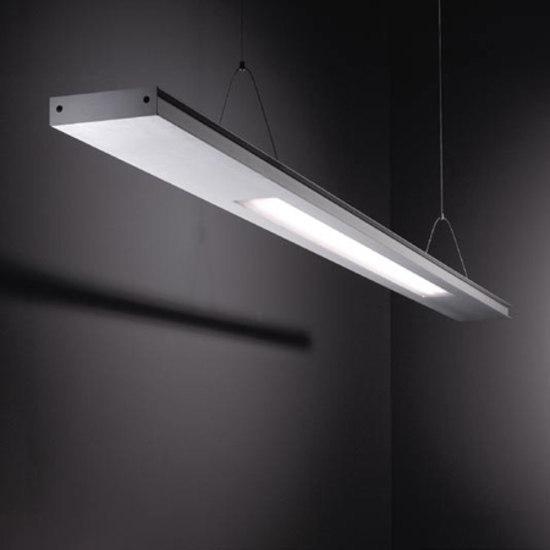 Small 2FLAT2C TL5 2x 54W poly by Modular Lighting Instruments | Pendant strip lights