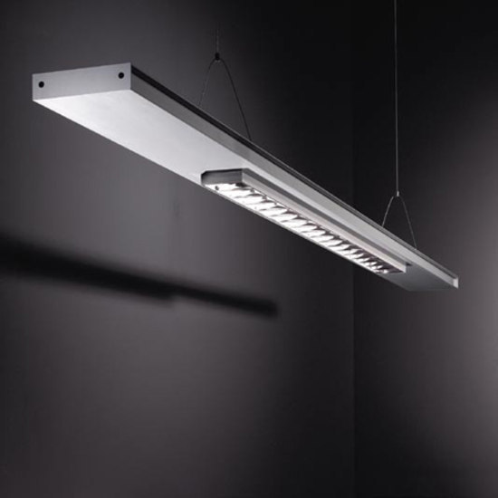 Small 2FLAT2C TL5 2x 54W BAP cat3 by Modular Lighting Instruments | General lighting