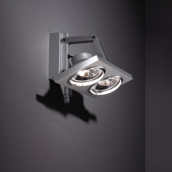 Aton 2x ARIII TI/EX horizontal by Modular Lighting Instruments | Wall-mounted spotlights
