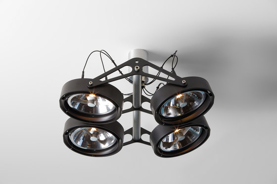 Nomad 4x AR111 GE by Modular Lighting Instruments | Ceiling-mounted spotlights