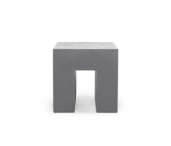 Vignelli Cube | Model 1030 | Light Grey de Heller | Taburetes de jardín