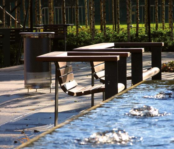 Vía Augusta by Santa & Cole | Exterior benches