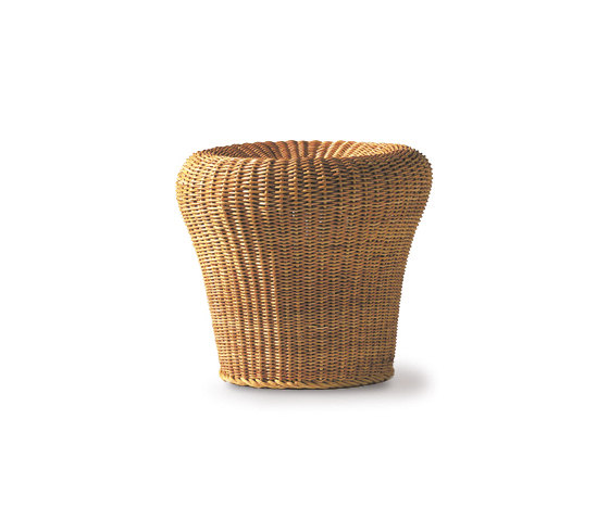 E 14 rattan stool by Richard Lampert | Garden stools