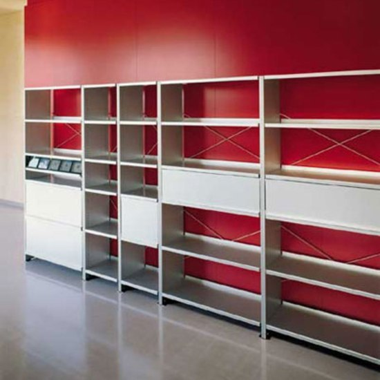 Aluminium shelves by Lehni | Office shelving systems