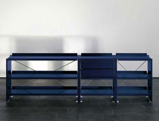 Aluminium shelves by Lehni | Shelving