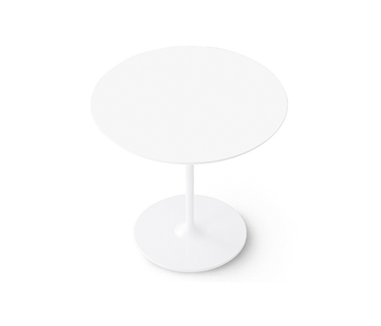 Dizzie | H 74 - Round base by Arper | Cafeteria tables