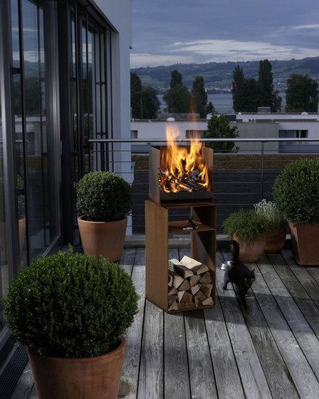 CUBE von Attika Feuer | Gartenfeuerstellen