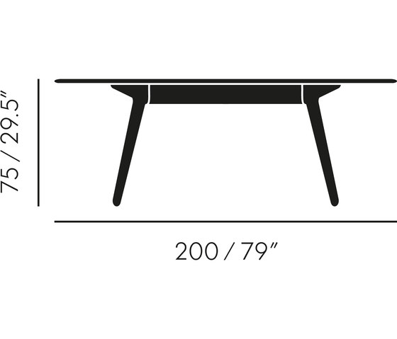 Slab Table Black by Tom Dixon | Dining tables