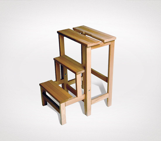 stool ladder by Radius Design | Library ladders