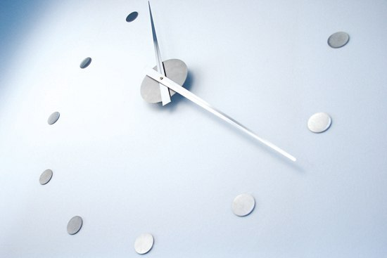 wall clock stainless steel by Radius Design | Clocks