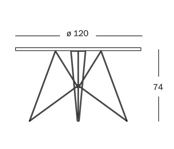 Tavolo XZ3 by Magis | Cafeteria tables