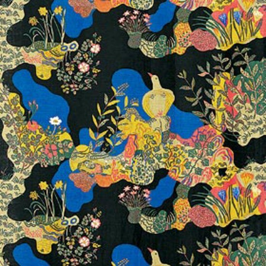 Anakreon black by Svenskt Tenn   Drapery fabrics