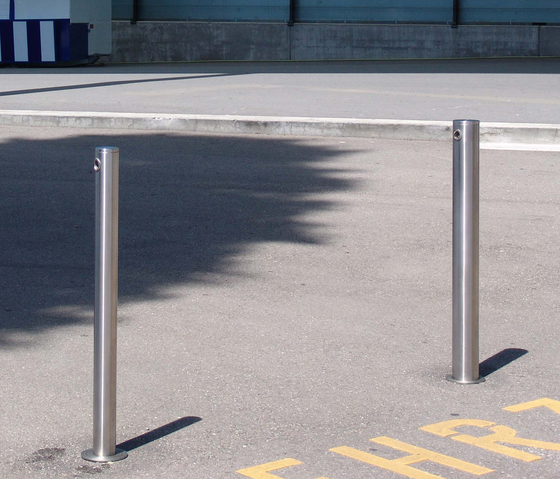Public Bollard removable barrier post – stainless steel by BURRI | Bollards