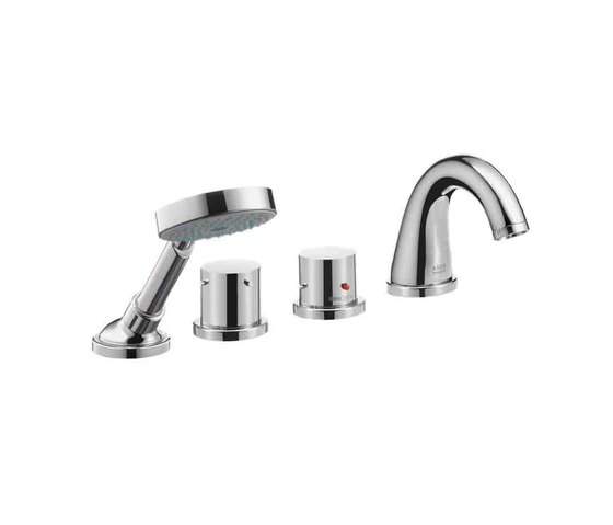 AXOR Starck 4-Hole Thermostatic Bath Mixer by AXOR | Bath taps