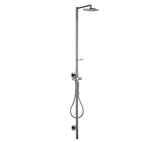 AXOR Starck Shower Column with thermostat and plate overhead shower Ø 240mm DN15 by AXOR | Shower taps / mixers